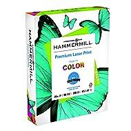 Hammermill Paper, Premium Laser Print Paper, 8.5 x 11 Paper, Letter Size, 28lb Paper, 98 Bright, 1 Ream / 500 Sheets (125534R) Acid Free Paper