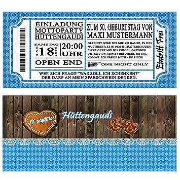 Einladungskarten zum Geburtstag Oktoberfest 50 Stück bayrisch