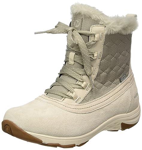 Merrell Ryeland Mid Polar Waterproof, Botas de Nieve para Mujer, Gris (Oyster Grey), 40.5 EU