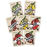 Tomato Seeds Variety Pack - 100% Non GMO - Cherry, Brandywine Beefsteak, Yellow Pear, Golden Jubilee, Plum Roma, Tomatillo Ve