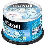 マクセル(maxell) 音楽用CD-R 80分 1回録音用 インクジェットプリンタ対応ホワイト(ワイド印刷) 50枚 スピンドルケース入  CDRA80WP.50SPZ