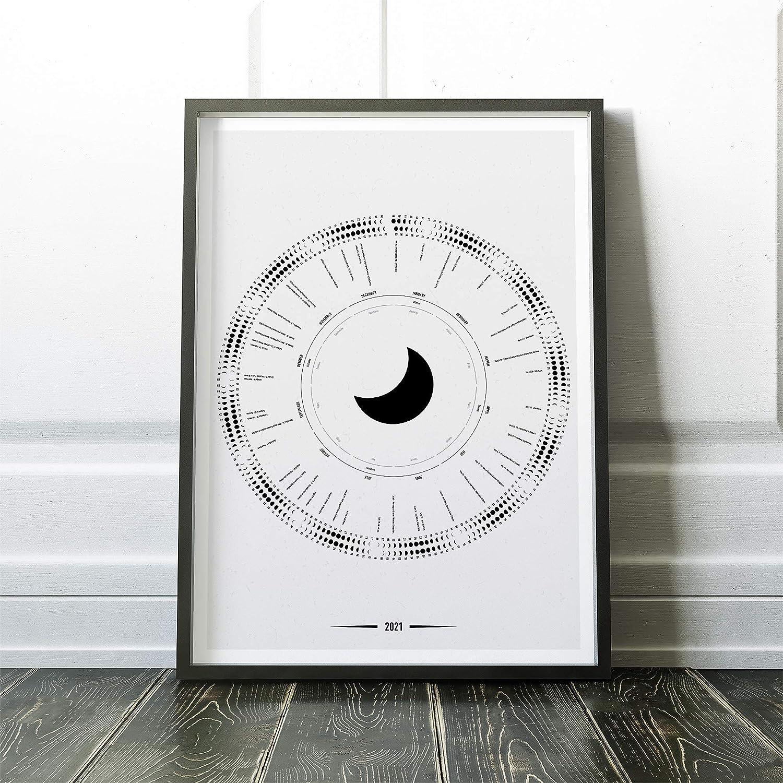 Astronomy Calendar of Celestial Events for Calendar Year 2021 with Moon Calendar