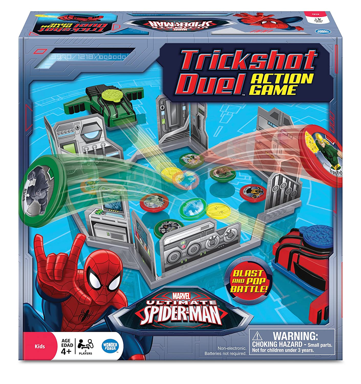 amazon com spider man trickshot duel game toys u0026 games