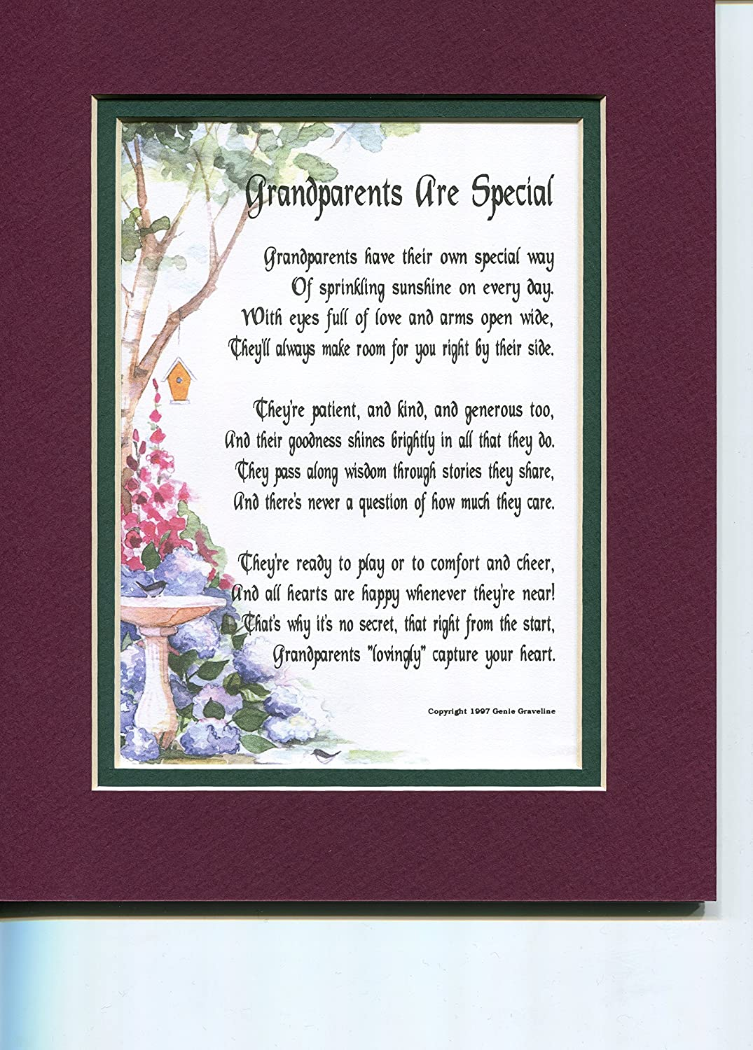 Amazon A Gift Present Poem For Special Grandparents 34