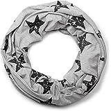 styleBREAKER fular de tubo con estampado de estrellas en apariencia desgastada vintage, suave y cálido, unisex 01018079