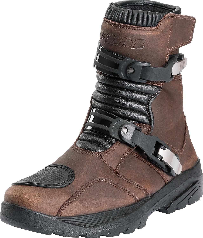 Toute lann/ée Tourer Microfibre//Synth/étique FLM Chaussures de Moto Hommes et Femmes Bottes de Moto Tour Bottes Court 1.0 Hommes