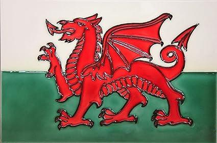 Yh arts 8 x 12 631 bandiera del galles decorazione per piastrelle