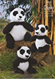 King Cole Cuddles Chunky Knitted Animal Characters Knitting Pattern Adult & Baby Panda by King Cole