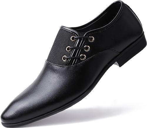 Amazon.com: Zapatillas de vestir para hombre, de piel ...