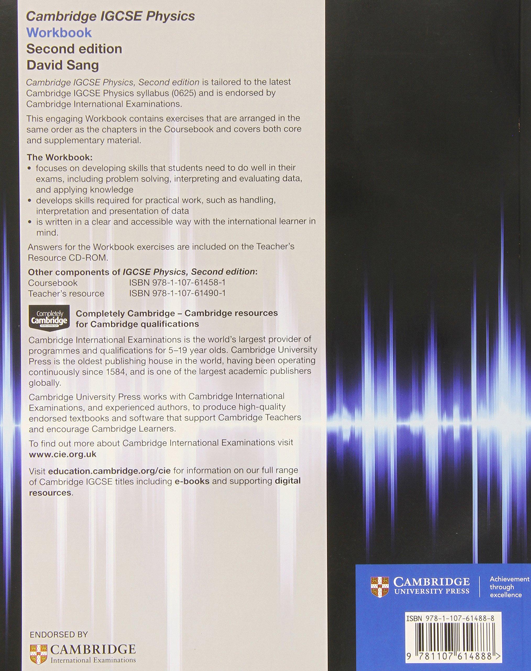 Cambridge IGCSE® Physics Workbook (Cambridge International IGCSE