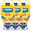 3-Pack Hellmann's Real Mayonnaise 20-oz. Squeeze Bottle