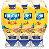 Hellmann's Real Mayonnaise, Squeeze 20 oz, 3 count