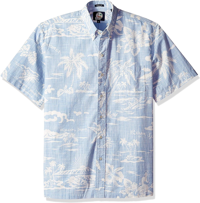 Reyn Spooner Mens Classic Fit Hawaiian Shirt