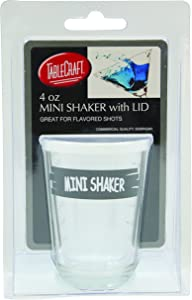TablecraftSmall Mini Glass Shaker with Lid, 4-Ounce, Clear