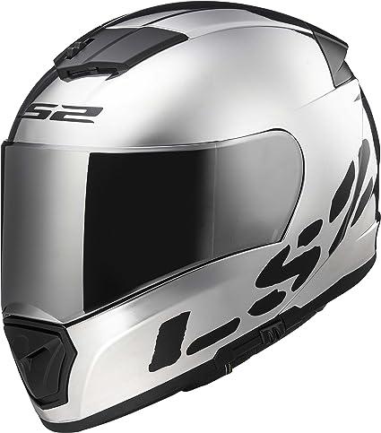 94ab37a9 Amazon.com: LS2 Helmets Unisex-Adult Full Face Helmet (Chrome, Medium) ( Breaker): Automotive
