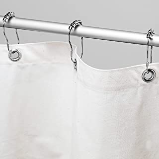 """product image for Bean Products Organic Cotton Shower Curtain (White), [70"""" x 74""""]   All Natural Materials - Made in USA   Works with Tub, Bath and Stall Showers   Includes Shower Rings"""