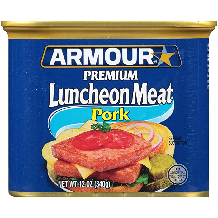 Armour Star Pork Luncheon Meat, Canned Meat, 12 OZ (Pack of 12)