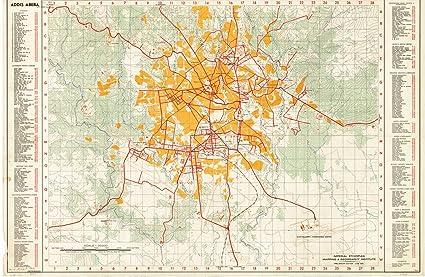 Amazon.com: Historic Map | Addis Ababa, Ethiopia 1964 | Addis Abeba ...