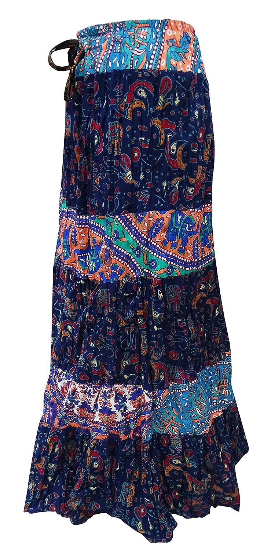 72cd8ff964e3 Indian Bollywood Frauen Lange Rock Baumwolle Gedruckt Lässig Tragen Sommer  Mode Rock  Amazon.de  Bekleidung