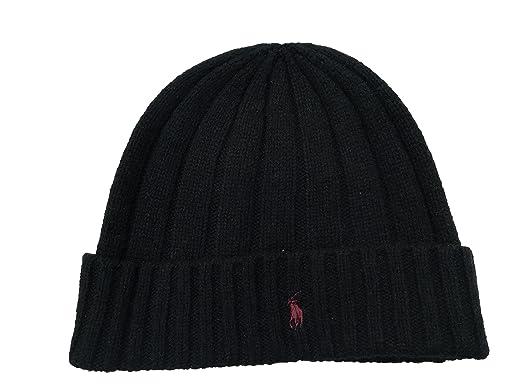 e56025af18a26 Polo Ralph Lauren Ralph Lauren Wool Black Beanie Hat