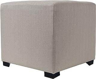 product image for MJL Furniture Designs Merton Designer Square 4 Button Tufted Upholstered Ottoman, Khaki