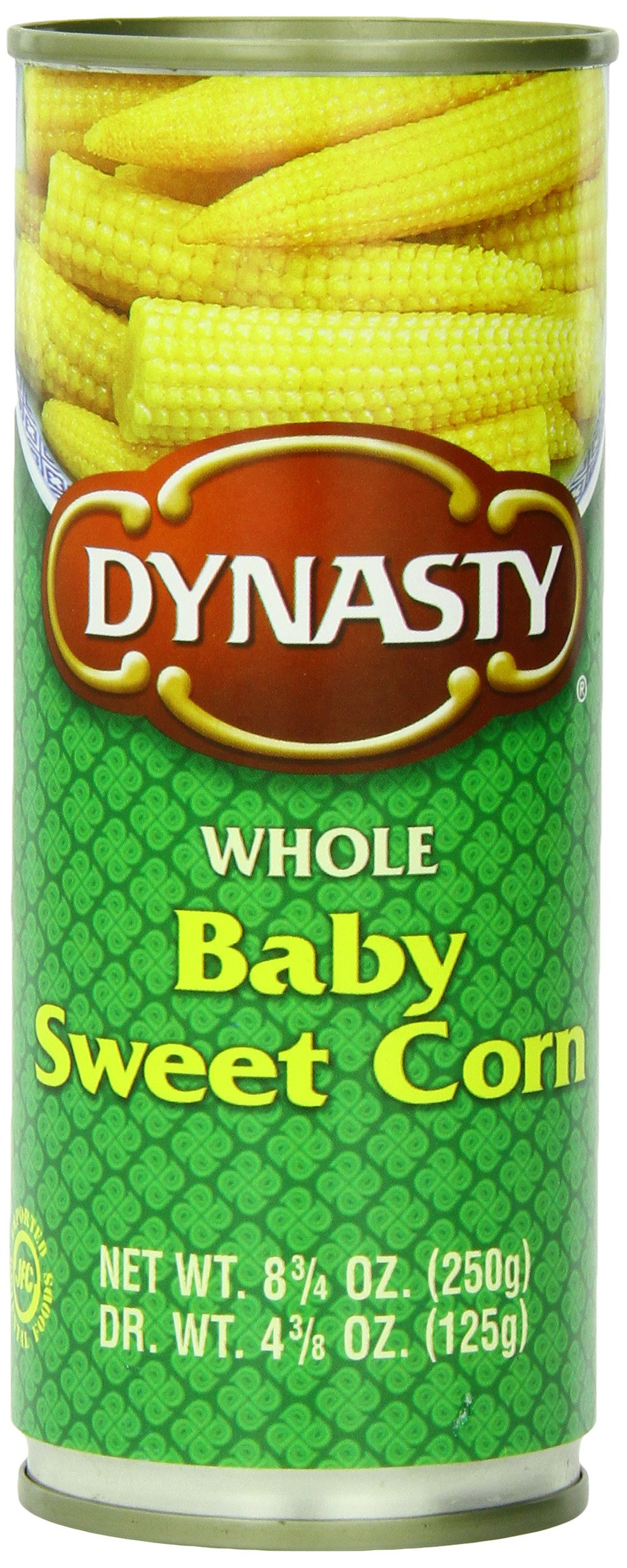 Dynasty Baby Sweet Corn Whole, 8.75-Ounce (Pack of 12)