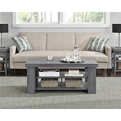 Groovy Sturdy Sleek Look Design Grey Oak Coffee Table Cjindustries Chair Design For Home Cjindustriesco