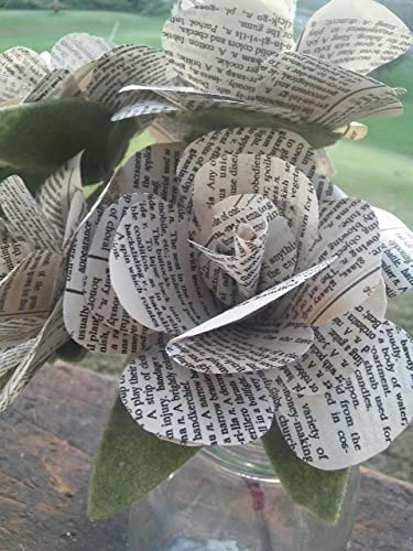 Amazon 6 Dictionary Paper Flowers Book Page Wedding Back To