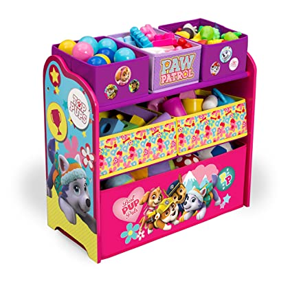 Amazon.com : Delta Children Multi Bin Toy Organizer, Nick Jr. PAW Patrol    Skye U0026 Everest : Baby