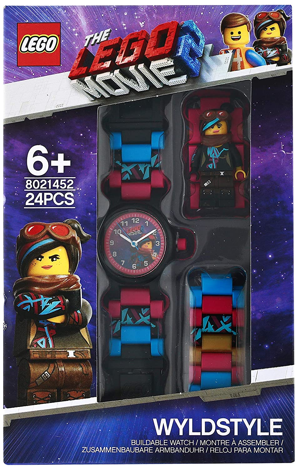 Amazon.com: LEGO Watches and Clocks Girls LEGO Movie 2 Wyldstyle Quartz Plastic Watch, Color:Pink (Model: 8021452): Watches