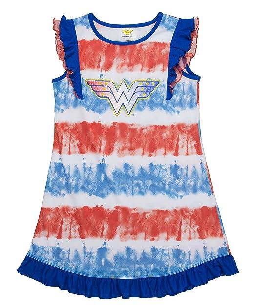 ad2c346457a0c DC Comics Big Girl's Wonder Woman Super Heroes Costume Nightgown Pj