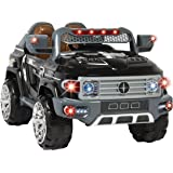 Best Choice Products Kids 12V MP3 Truck Car with LED Lights, AUX & Music, Black