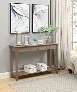 Convenience Concepts American Heritage Console Table with Drawer, Driftwood