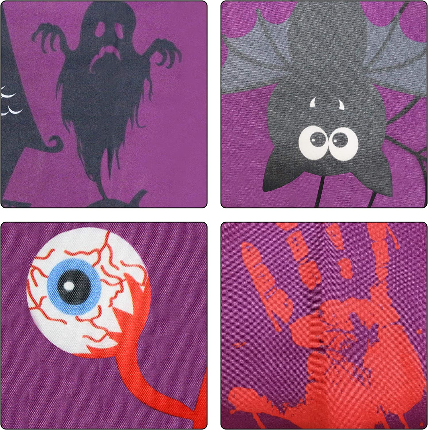 Halloween Party Decoration Supplies(9.8 x 1.5FT) Large Halloween Banner Outdoor Funny Halloween Scary Bloody Banner Halloween Banner Decoration Halloween Yard Banners
