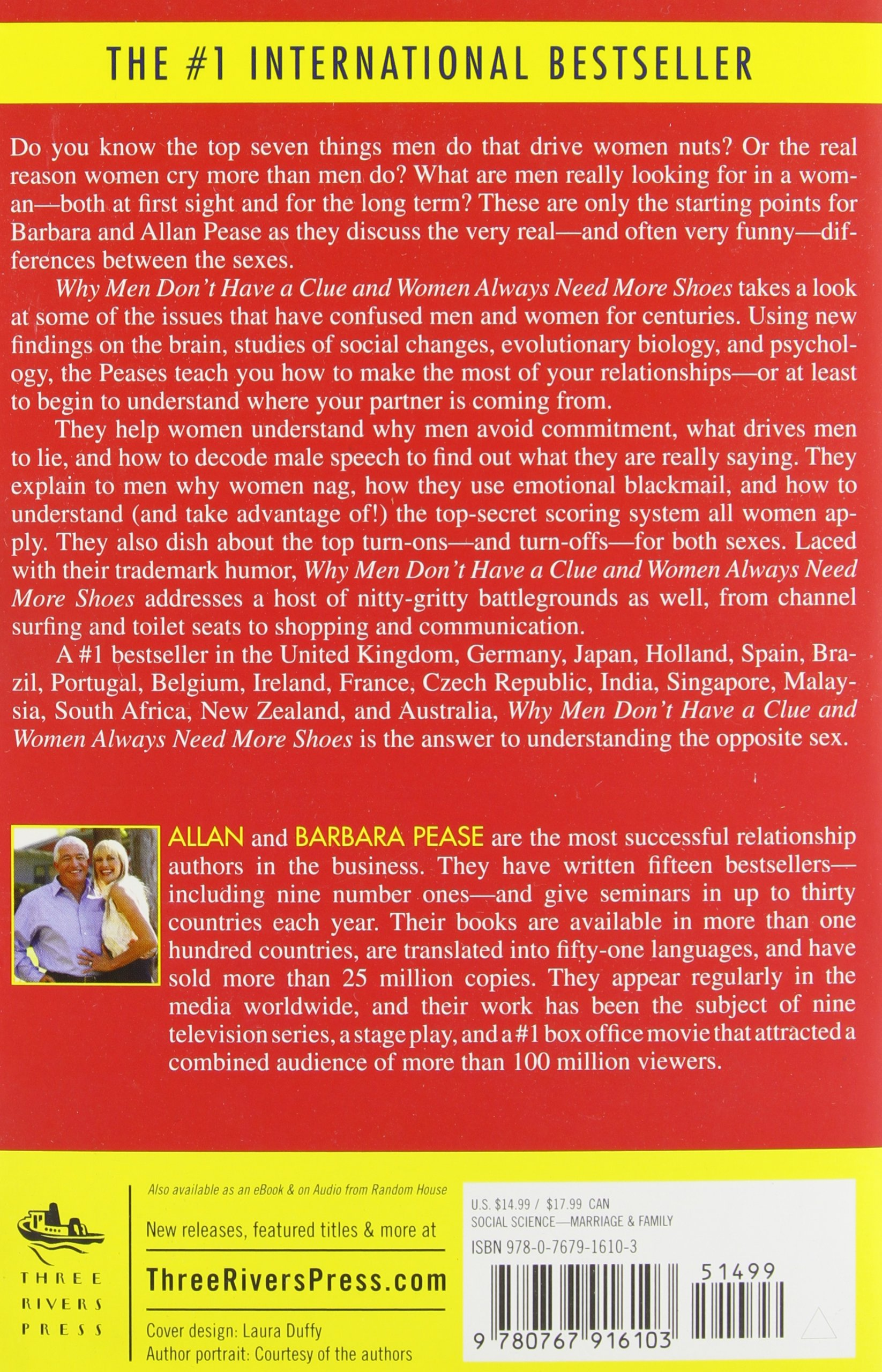 Amazon: Why Men Don't Have A Clue And Women Always Need More Shoes: The  Ultimate Guide To The Opposite Sex (9780767916103): Barbara Pease, Allan  Pease:
