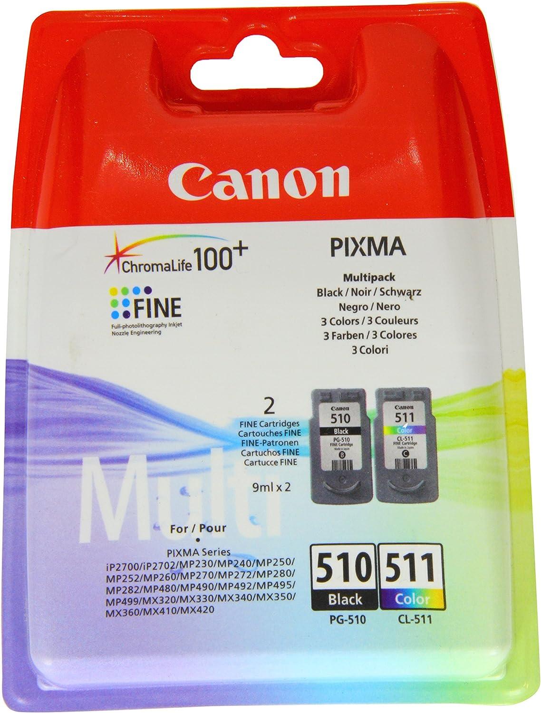 Canon PG-510+CL-511 Cartucho Multipack de tinta original Negro y ...