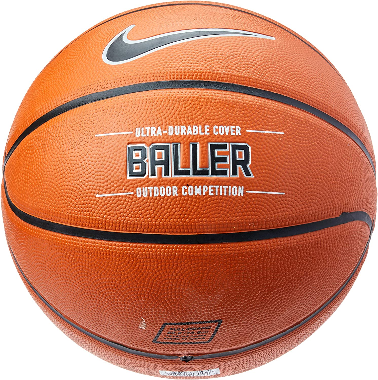 "Nike Baller Basketball Full Size (29.5"", Ages 13+) Amber/Black/Metallic Platinum"