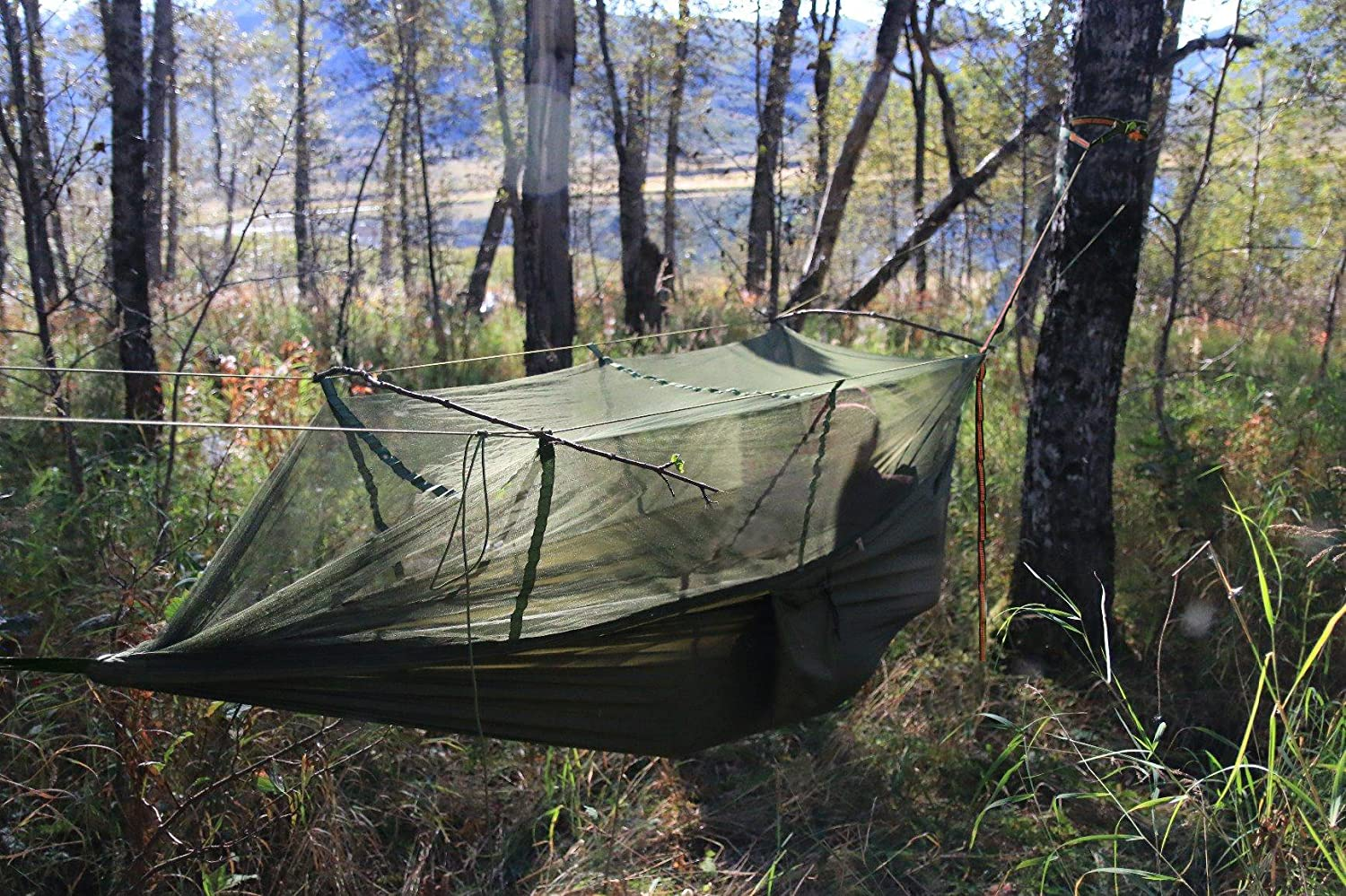 Lightweight Parachute Backpacking Yard Easy Setup Supports Image 2