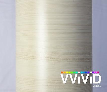 "White Maple Wood Grain Architectural Vinyl Wrap Film DIY Home VViViD 25ft x 48/"""