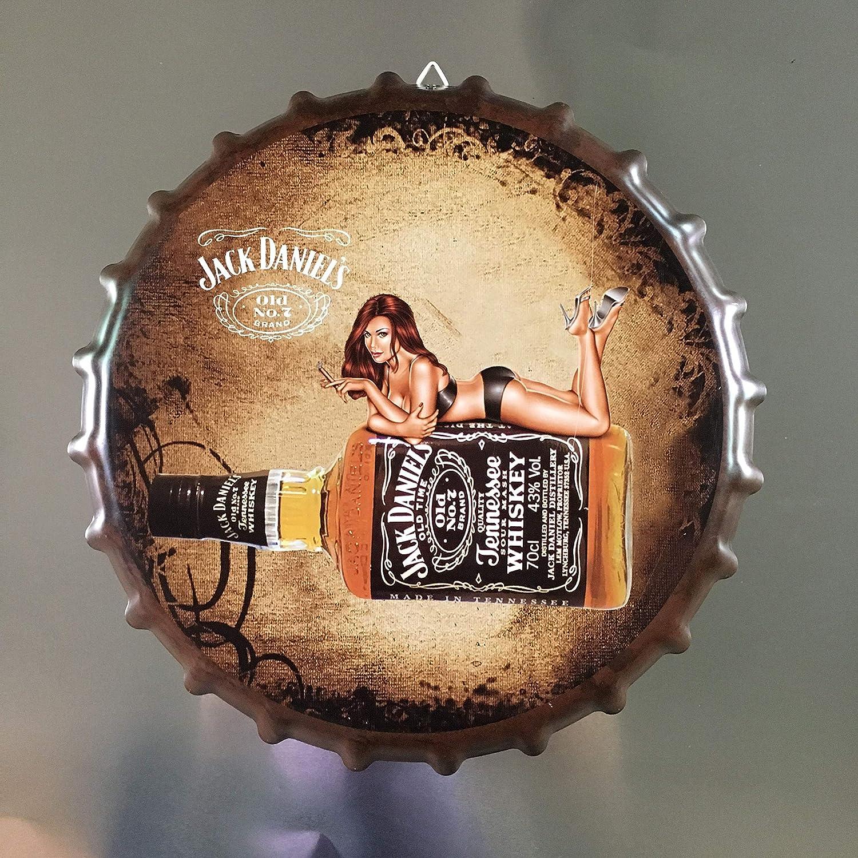 ayingzhenxiao Tappo di Bottiglia di Vino Targa in Metallo Targa in Metallo Targa in Metallo Cafe Bar Decorazione da Parete Idee Regalo Rotonde nostalgiche retr/ò 35 cm Diametro 19