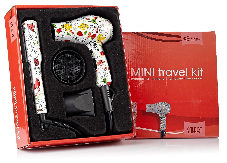 Giubra Mini Travel Kit Fantasía. Mini Secador + Mini Plancha de pelo: Amazon.es: Salud y cuidado personal