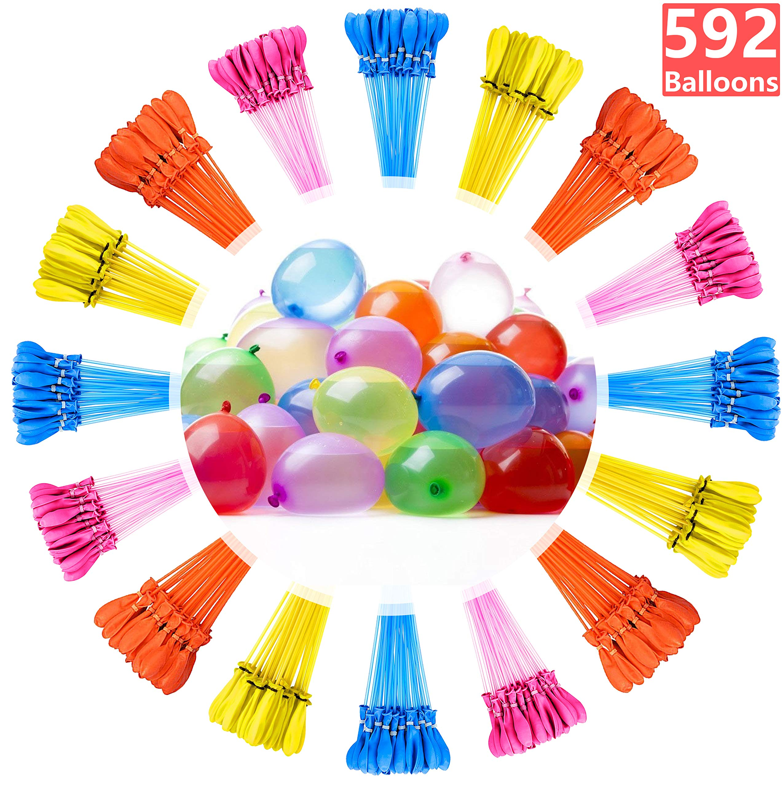 Water Balloons for Kids Girls Boys Balloons Set Party Games Quick Fill Water Balloons 592 Bunches Swimming Pool Outdoor Summer Fun G3 by Magic balloons