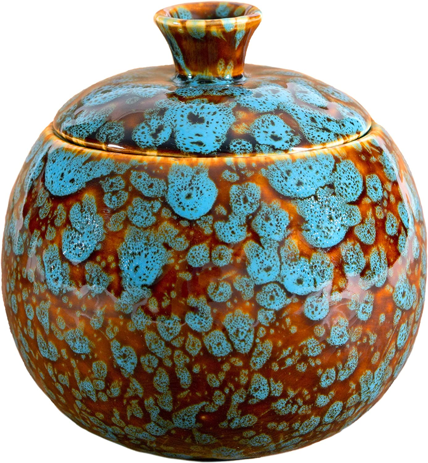 Elevated Lifestyle Fruit Fly Jar Trap for Kitchens - Decorative, Effective, Kid and Pet Friendly (Marbled Turquoise)