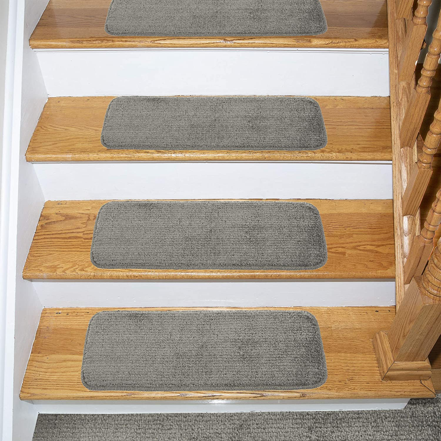Ottomanson Comfort Collection Stair Tread 14 Count 14 Pack Grey