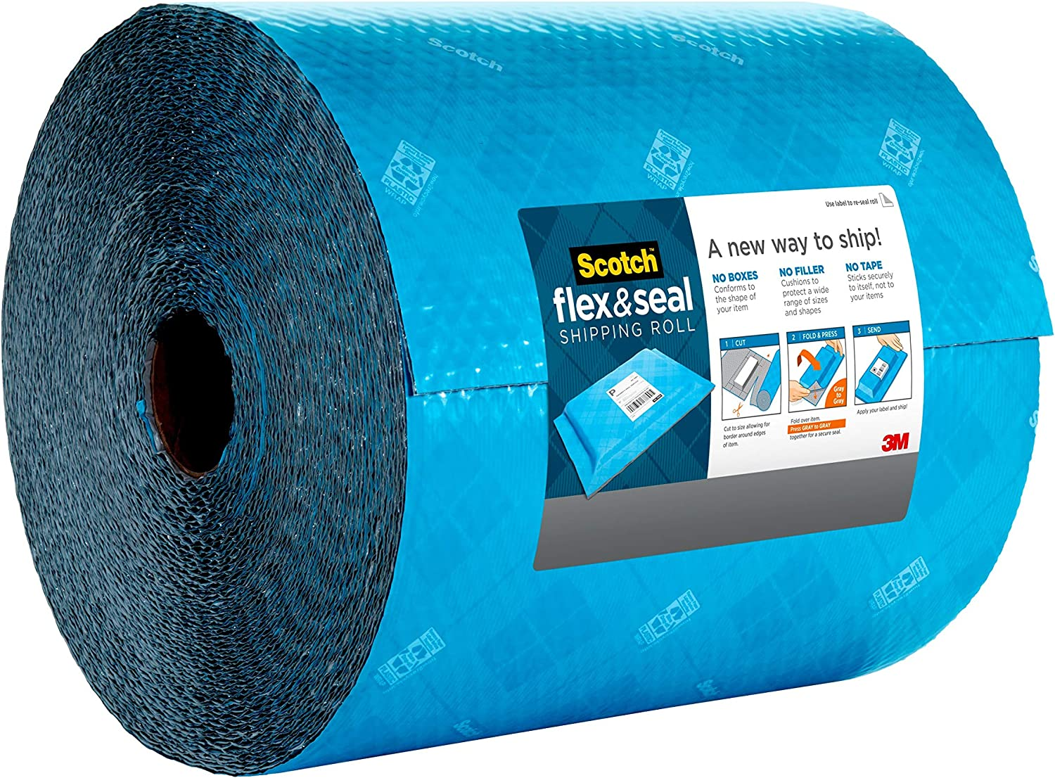 Simple Packaging Alternative to Cardboard Boxes 2 Pack 20 Ft x 15 in Bubble Mailers Poly Bags Cushioning Scotch Flex /& Seal Shipping Roll