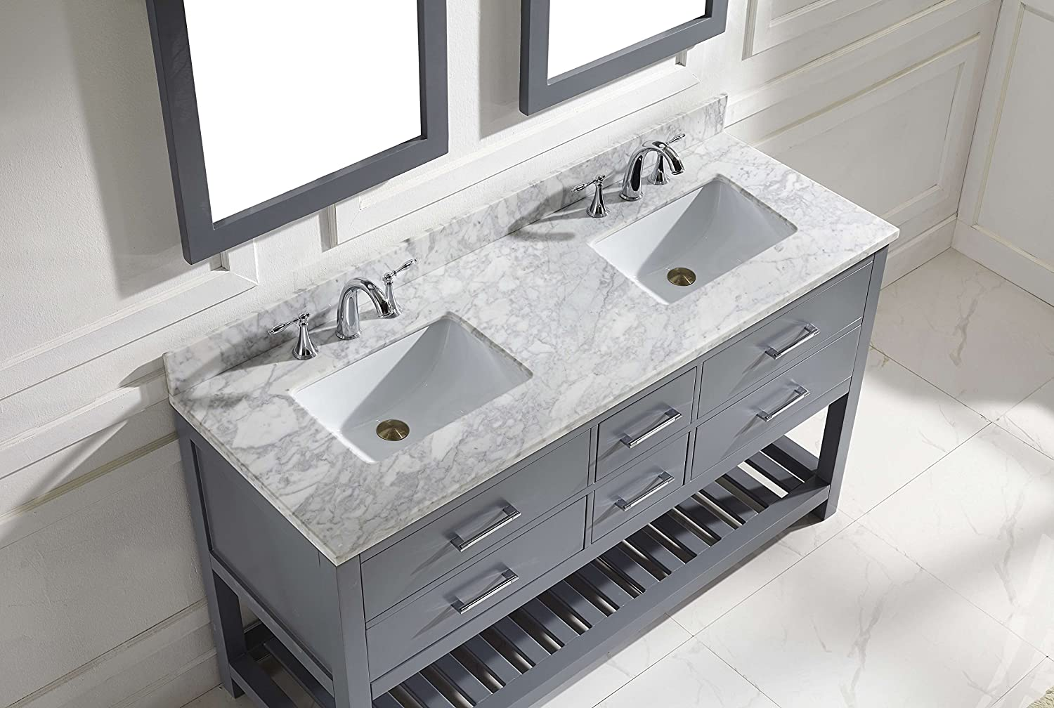Virtu Md Wmsq Gr Caroline Estate Double Bathroom Vanity