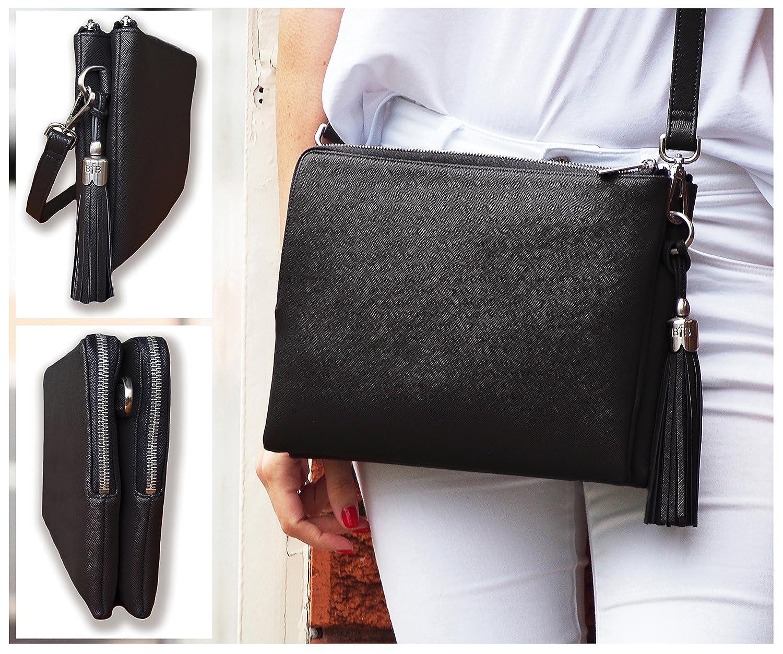 BFB Crossbody iPad Shoulder Bag   Clutch for Women - Inbuilt Travel Wallet  for Credit f28686a1d38e0