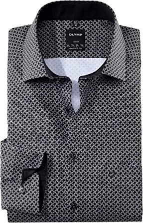 OLYMP Luxor - Camisa estampada de corte moderno, color ...