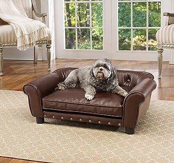 Incredible Enchanted Home Pet Brown Brisbane Tufted Pet Bed Machost Co Dining Chair Design Ideas Machostcouk