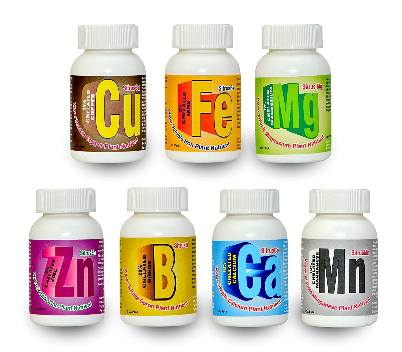 Sitrus Nutri Box Containing 7 Chelated Micro Nutrient Fertilizer Zinc Iron  Manganese Copper Calcium Boron & Magnesium For Home Gardening Plants